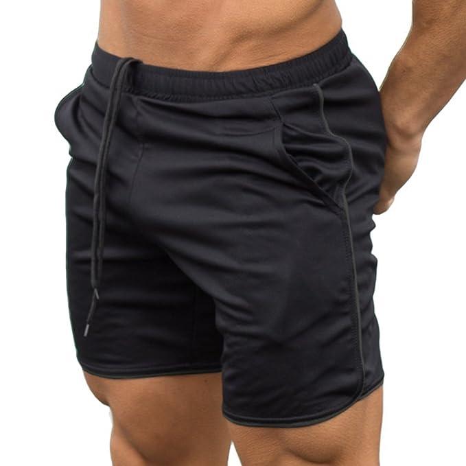 a841e5f0a16c6 cheyuan Pantalones Cortos Gym Fitness para Entrenamiento Deportivo para  Hombres  Amazon.es  Ropa y accesorios
