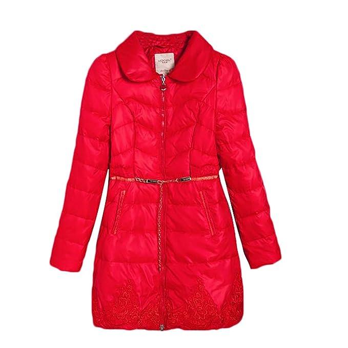 sale retailer a82e1 75622 YiJee Donna Piumini Corti con Cintura Leggeri Piumino Giacca ...