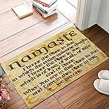 Doormat Indoor Rubber Non Slip Entrance Way Welcome Door Mat for Bathroom/Kitchen/Front Door Waterproof Absorb Area Rugs Floor Runner Carpet, Namaste Quote Christian Faith
