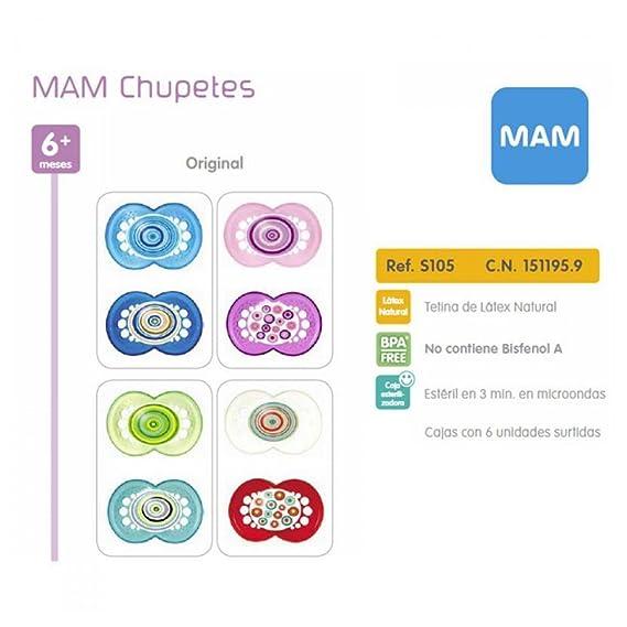 Mam Baby Original 6+ Latex - 100 gr: Amazon.es: Salud y ...