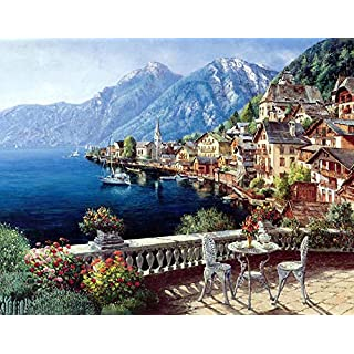 500PCS European Town Jigsaw Puzzle for Kids Adults Intellectual Game Enhance Imagination Operational Ability Wall Decorations