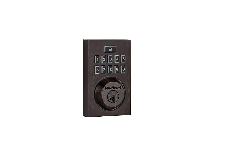Kwikset Smartcode 913 Contemporary Electronic Deadbolt Featuring Smartkey In Venetian Bronze