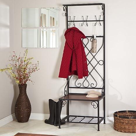 Amazon.com: Loring Entryway Almacenamiento rack salón Árbol ...