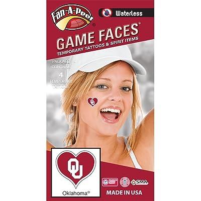 Fan A peel NCAA Oklahoma Sooners 4-Pack I Love My U Temporary Tattoos: Toys & Games