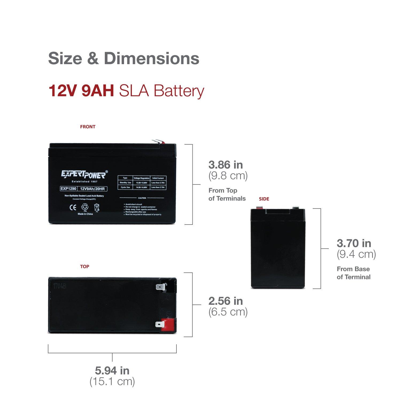 Home 187 schlafen amp bad 187 wellness pur - Amazon Com Expertpower Exp1290 12 Volt 9 Amp Rechargeable Battery Automotive
