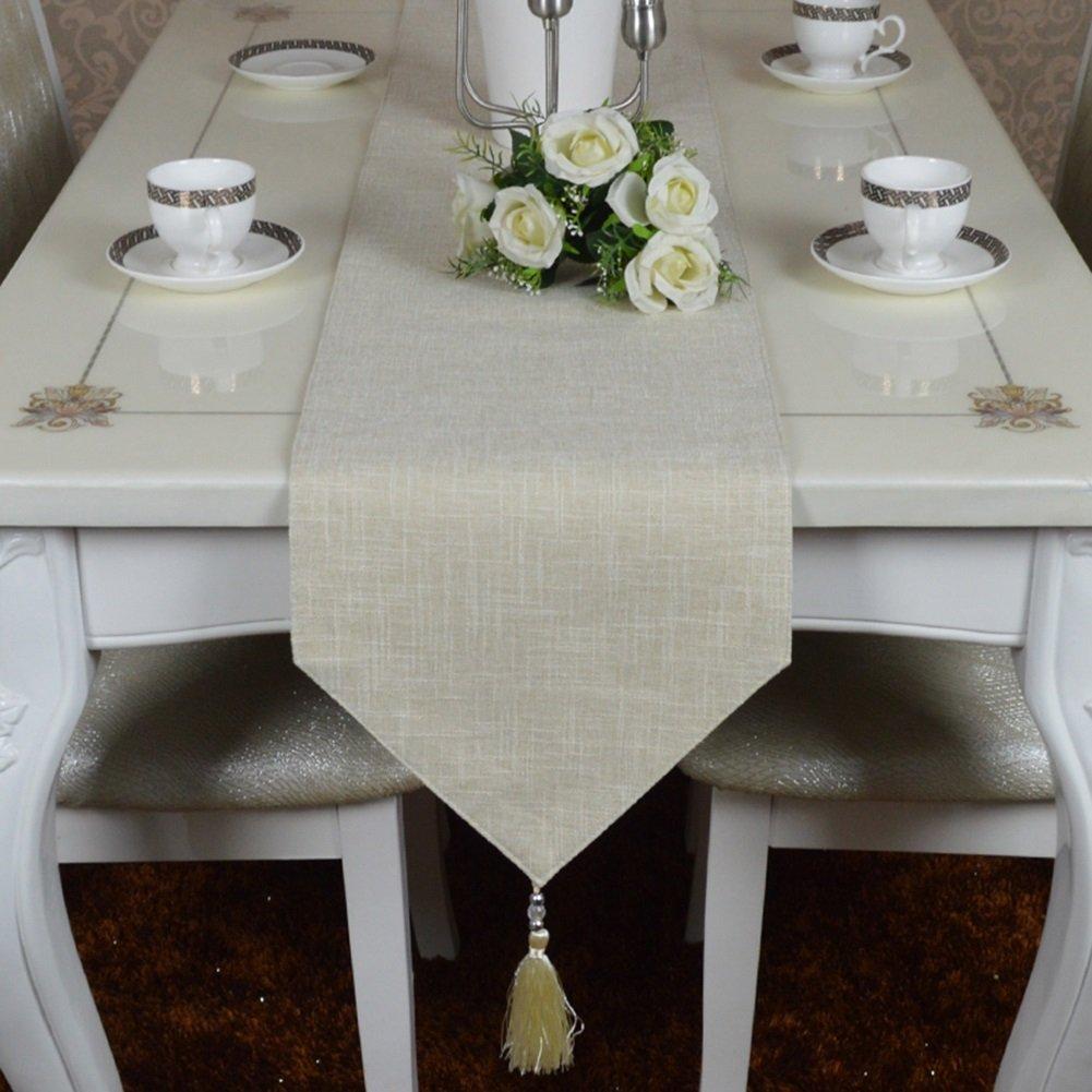 JIANFEI テーブルランナー ソリッドカラー クラシック 高品質 綿とリネン タッセル、 7色、 オプションの7サイズ (色 : F f, サイズ さいず : 30*280cm) 30*280cm F f B07BRKX9XD