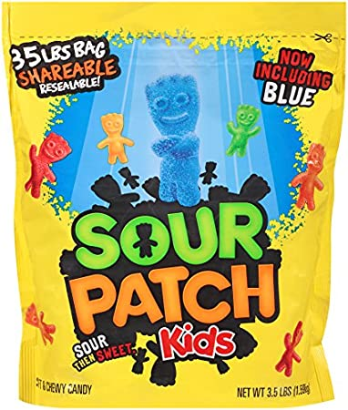 sour patch kids sweet and sour gummy candy original 35 pound bag