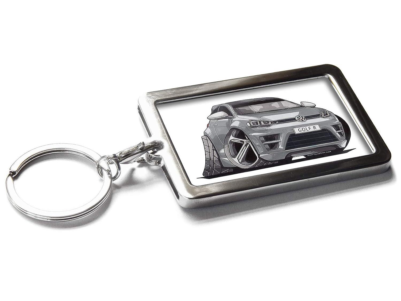 Koolart - Llavero de Metal para Coche, Volkswagen VW Golf R ...