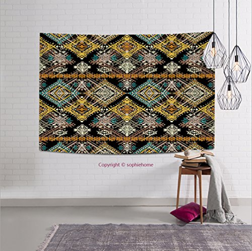 sophiehome-309221384 Ethnic boho seamless pattern. Ethno ornament. Tribal art repeating background. Cloth design wallpaper wrappin tapestry wall hanging magical thinking tapestry 59W x 51.1L (Halloween Makeover London)
