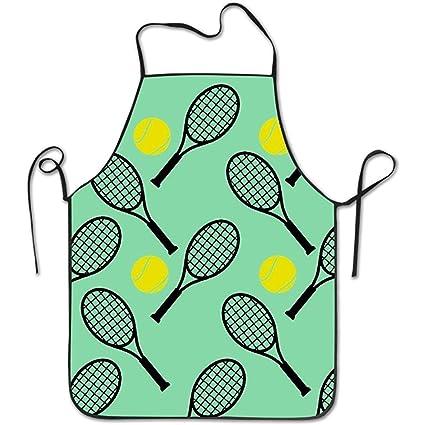 Starobos Delantales Pelota de Tenis y Racket1 Delantal para Adulto Mujer Unisex Durable Cómodo Lavable para