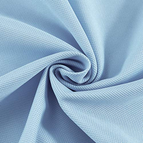 cololeaf 8ft Wide x 7ft Tall Pinch Pleated Hanging for Hospital Medical Clinic SPA Lab Cubicle Curtain Divider Privacy Screen, in Blue Customizable