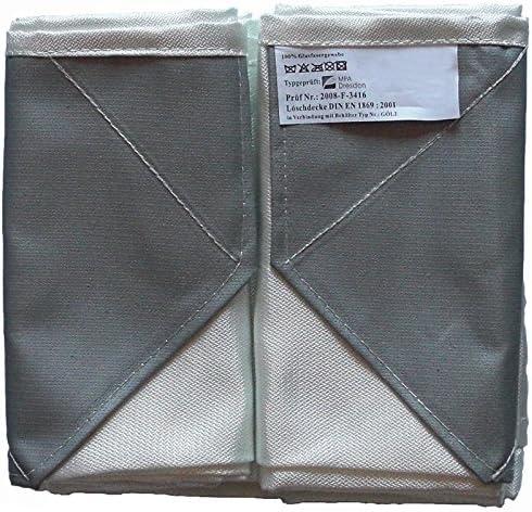 L/öschdecken-Beh/älter Metall 300mmx300mmx80mm mit L/öschdecke 1,6m x 1,8m
