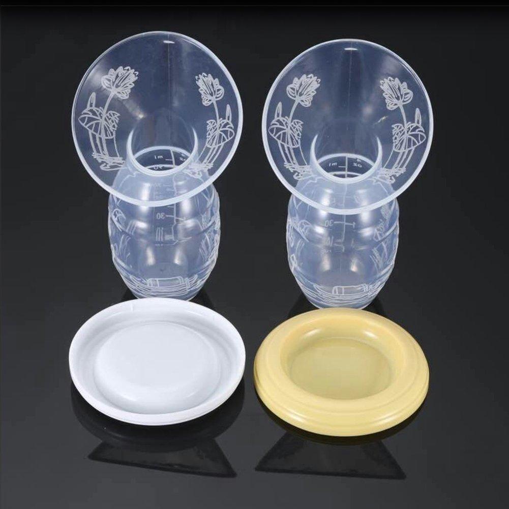 tire-lait manuel Coque en silicone dallaitement tire-lait manuel Pompe /à lait avec couvercle 100/% Silicone de qualit/é alimentaire sans BPA en PVC /économiseur de lait tire-lait