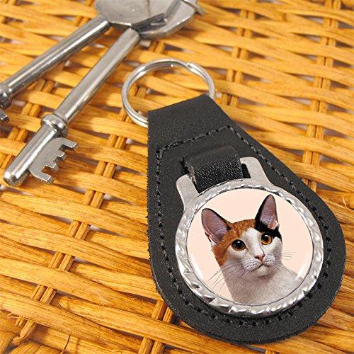 Bobtail Ring - Bobtail Cat Bonded Leather Keychain