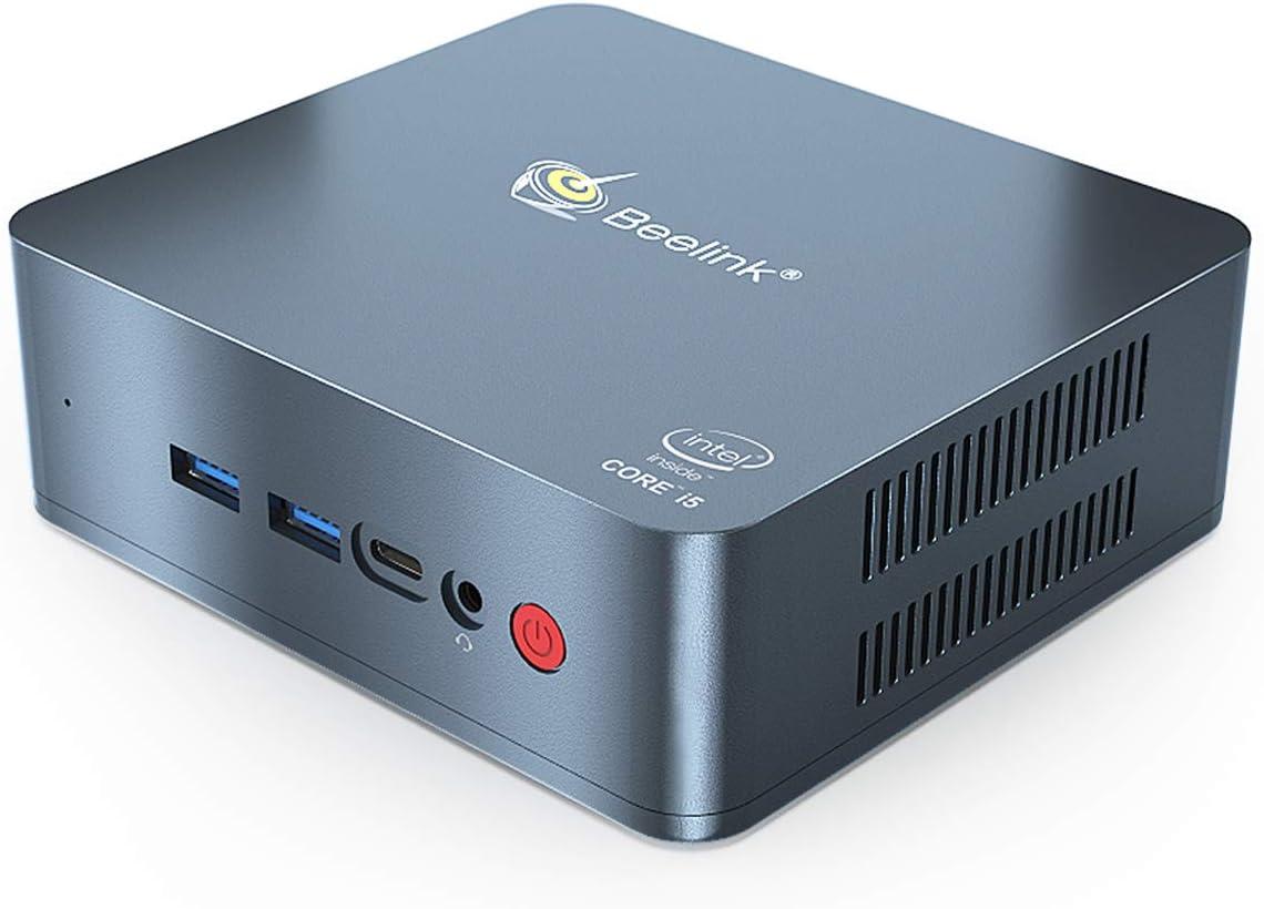 Mini PC Beelink U57 Intel Core i5-5257u Processor(up to 3.10 GHz) Windows 10 Pro,8G DDR3/512G SSD High Performance Business Mini Computer,4K UHD,2.4G/5G Dual WiFi,BT4.2,Dual HDMI Ports