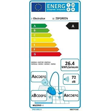 Electrolux SilentPerformer Green - Aspirador con bolsa AAA, cepillo especial para parquet, color negro ébano y verde [Clase de eficiencia energética A]: Amazon.es: Hogar