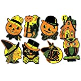 Beistle Packaged Halloween Cutouts, 8.5 - 9.25 (12 Cutouts In Package)