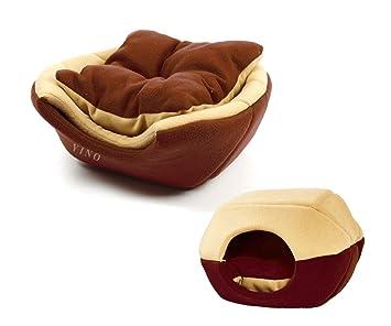 WOHO - Cama blanda para mascotas con forma de cueva, para alivio de articulaciones y mejor sueño, con cojín interior extraíble: Amazon.es: Productos para ...