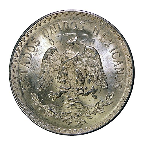 1940 Mexico 1 Peso Silver Coin, About Uncirculated Condition