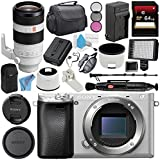 Sony Alpha a6300 Mirrorless Digital Camera (Silver) ILCE-6300/S + Sony FE 100-400mm f/4.5-5.6 GM OSS Lens SEL100400GM + NP-FW50 Replacement Lithium Ion Battery Bundle