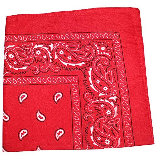 3 Pack Mechaly Dog Bandana Neck Scarf Paisley 100% Cotton Double Sided Bandanas - Any Pets (Red)
