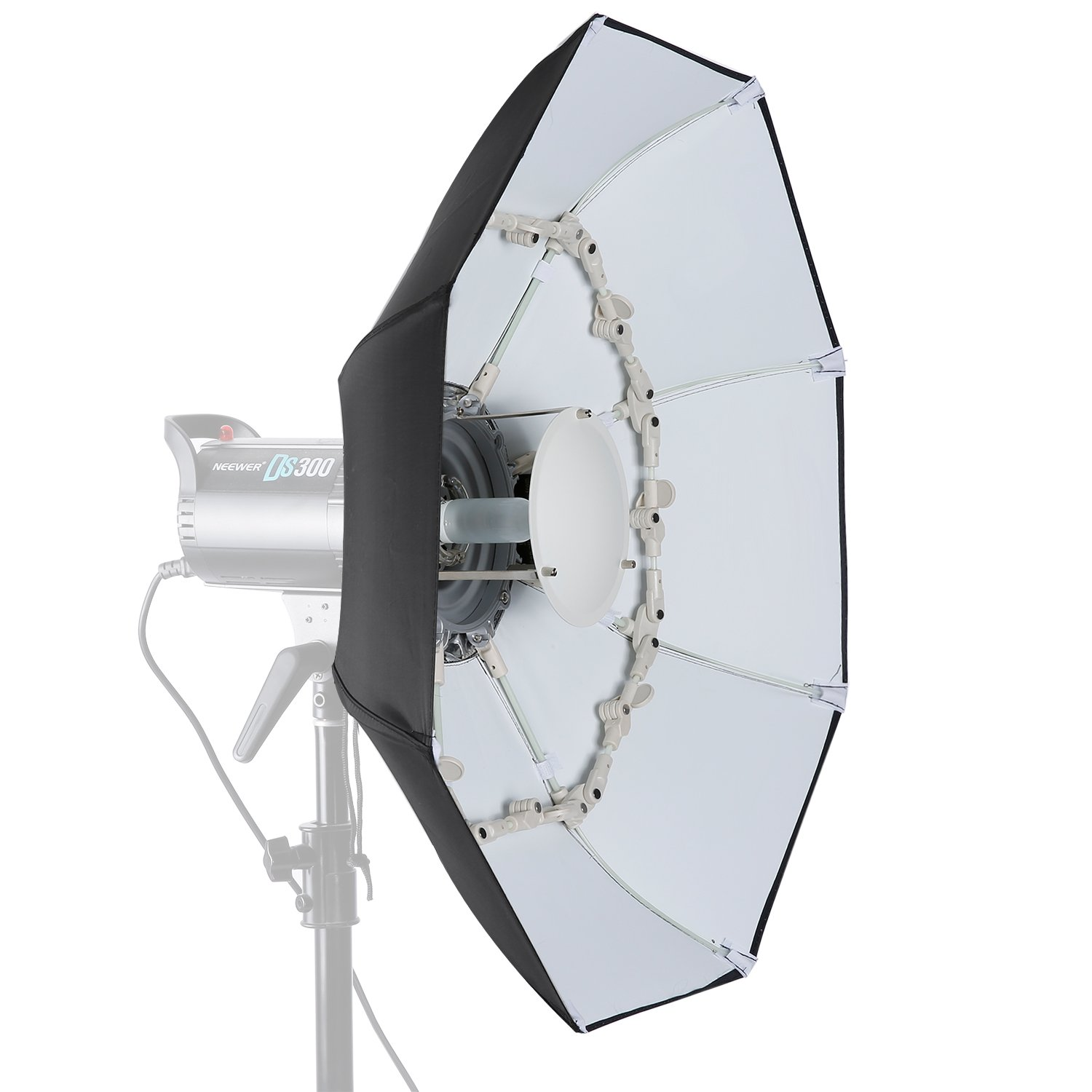 Neewer 27.5 inches/70 centimeters Folding Beauty Dish Octagonal with Center Deflector Disc, Removable Front Diffuser and Bowens Speed Ring for Monolight Studio Flash in Portrait and Event Photography by Neewer
