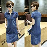 XX&GXM Summer Gifts Women's V-neck denim dress