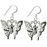 Dangle butterfly earrings with crystals by BodyTrend -