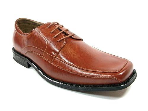 9b532e5aae1b4 Men's 16065 Lace Up Square Toe Oxford Dress Shoes