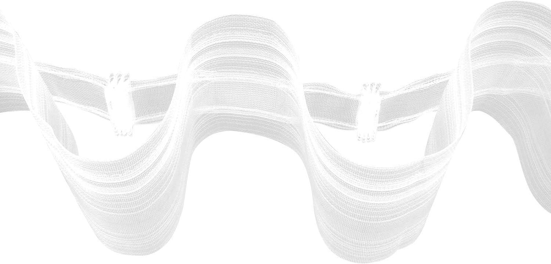 Gardinenband B063 Bänder zum nähen Transparent Wellenband  1 1,6 160/%