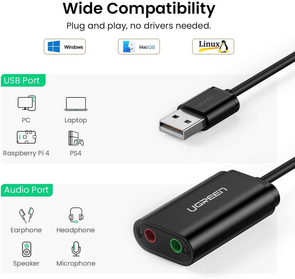 3.5mm Audio Headset Mikrofon Y-Splitter Kabel Adapter Trrs Sich 2 Trs für Tabs