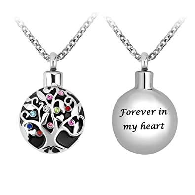 d7b886cf1fe99 JewelryJo Urn Necklace for Ashes Cremation Keepsake Memorial Pentacle Star  Paw Dog Cat Flower Pendants