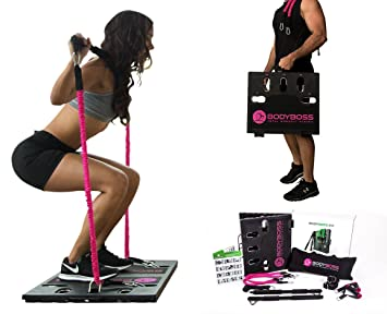 5d4c373331 BodyBoss Home Gym 2.0 - Full Portable Gym Home Workout Package + Set of  Resistance Bands