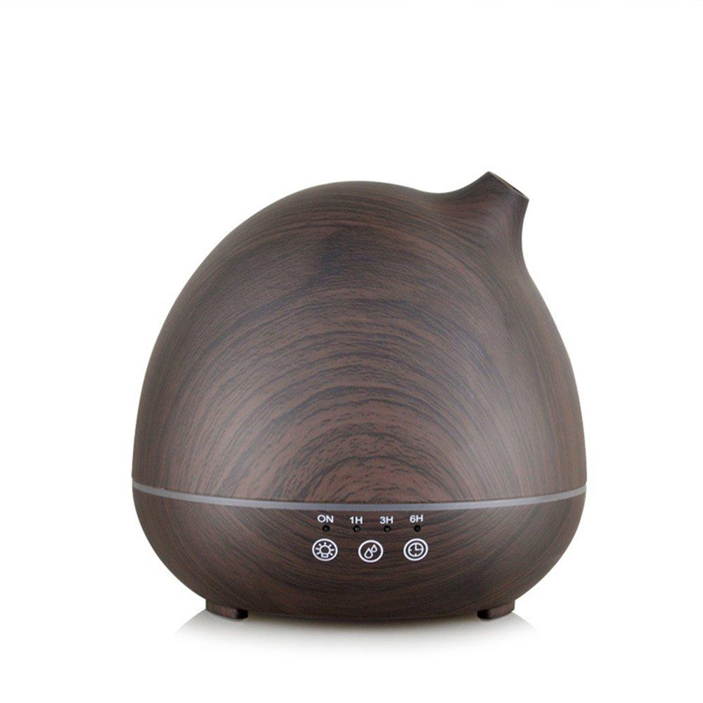 YIMEI HOUSEHOLD Wood Grain Cool Mist 400ml Ultrasonic Aroma Essential Oil Diffuser, Auto Shut-off Function, Home Living Room Baby Room Study Office Spa Yoga Humidifier (Deep Wood Grain)