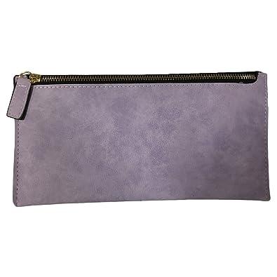 e510b310218f Peach Style コンパクト 薄型長財布 長財布 財布 カード入れ レディース PU皮革 (パープル
