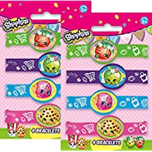 Shopkins Birthday Party Rubber Bracelets - Package of 8