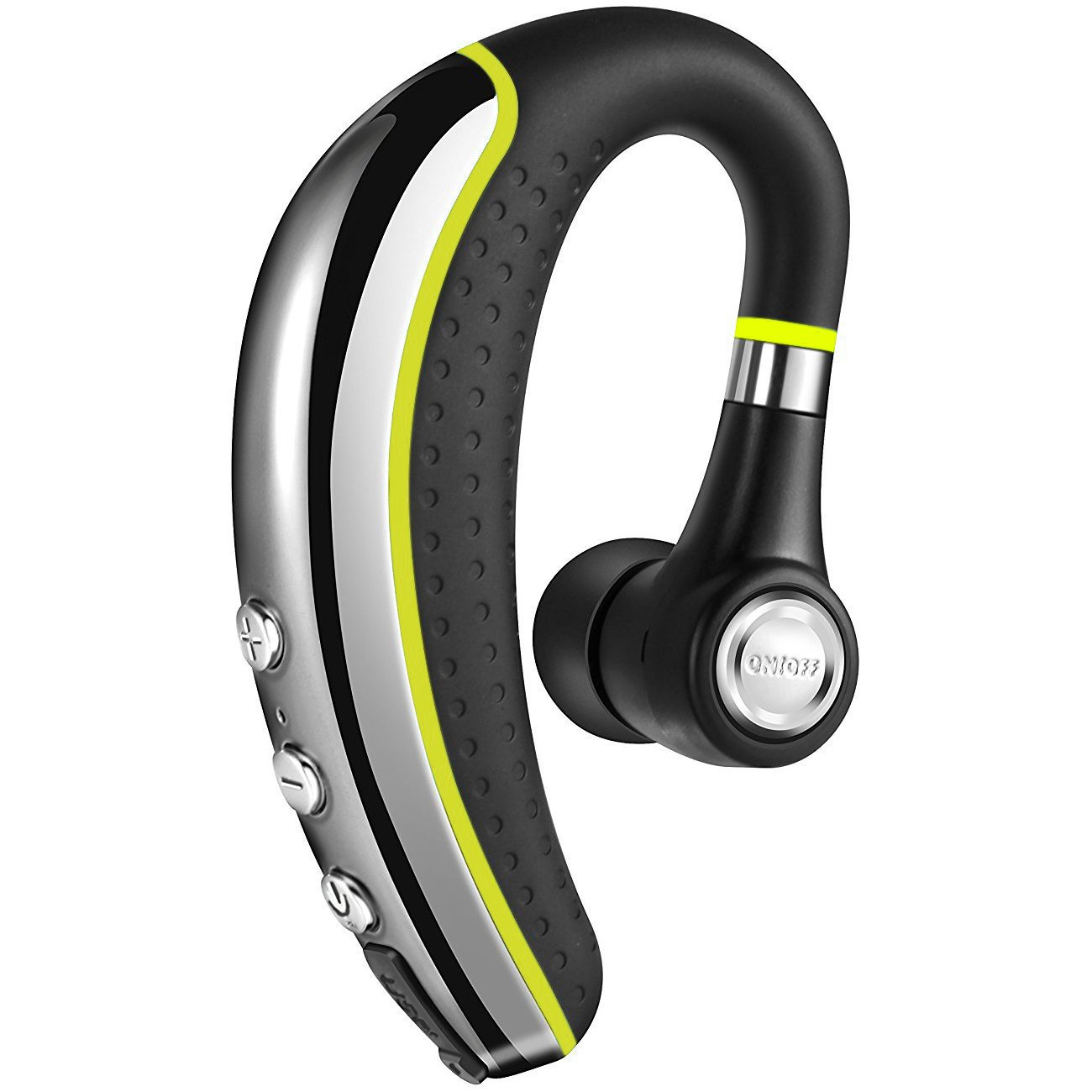 【NEW】Bluetooth Headset V4.1,Candeo Wireless Business Earpiece Trucker In-Ear Earbuds Headphones with Noise Reduction Mute Switch,Hands Free w/Mic for Office/Business/Workout/Driver/Trucker-Yellow