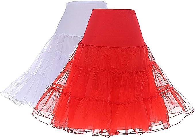 "26/"" Sottogonna retrò 50s Swing Vintage Petticoat Fancy gonna rete Rockabilly Tutu"