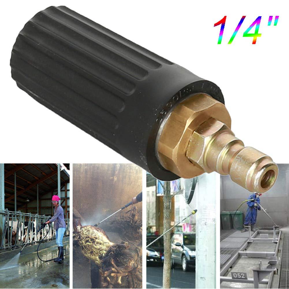 """m/étal omufipw Accessoire pour Pistolet Nettoyeur Nettoyeur Haute Pression Rotatif Turbo Nozzle 2500PSI 1//4 /""""Quick Connect pour Le Nettoyage Asphalte b/éton"""