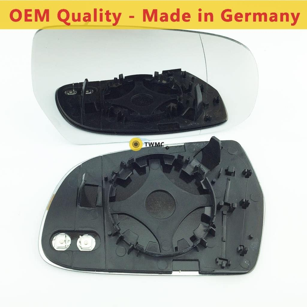 Wing Mirror Glass Including Base Plate RH Heated Driver Side Silver Aspheric Door