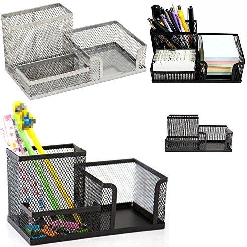 HK - Organizador de escritorio, soporte para boligrafo, Post It, lapices y goma de borrar