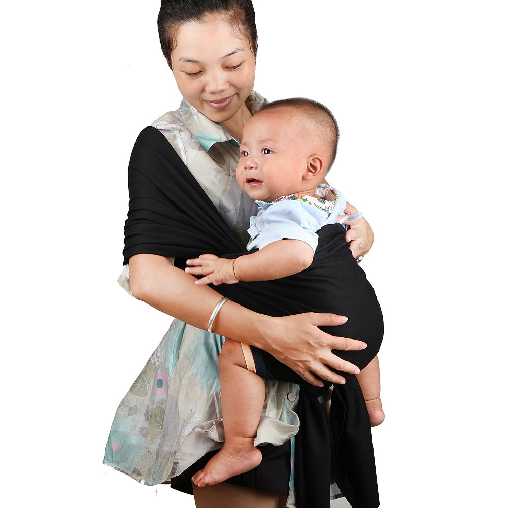 My miumiu Baby Straps Baby Wrap Carrier Baby carrier (Black) Brown Wrap