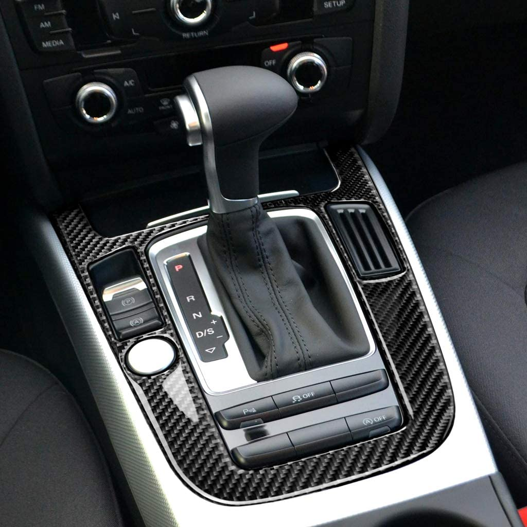 Carbon Fiber Interior Decoration Decal Frame Cover Trim SLine Quattro For Audi A4 S4 A5 S5 2009-2016 LHD Dashboard Headlight Switch Cover