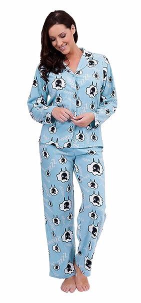 Traje de neopreno para mujer diseño de oveja pijama de tejido polar suave