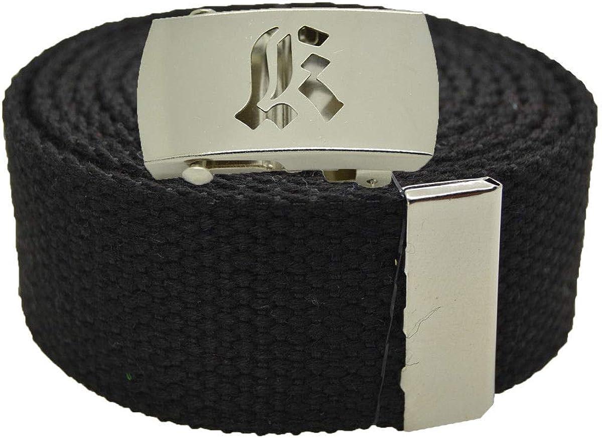 Stylish Canvas Military Web Belt /& BIGK Silver Buckle 72 Inches BLACK #AAAS