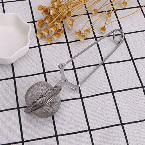 Funnytoday365 Handle Mesh Strainer Snap Ball Loose Leaf Tea Infuser Stainless Steel Secure Locking Tea Accessories by FunnyToday365 (Image #3)