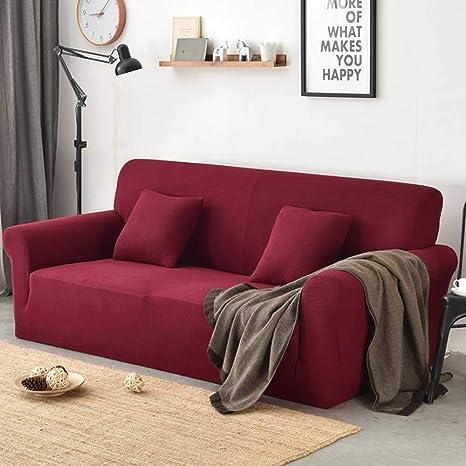 Funda de sofá Kobwa, Estiramiento funda de sofá cubierta sofá Resistencia al deslizamiento resistente al desgaste espesantes rayas Sofá Cubierta de ...