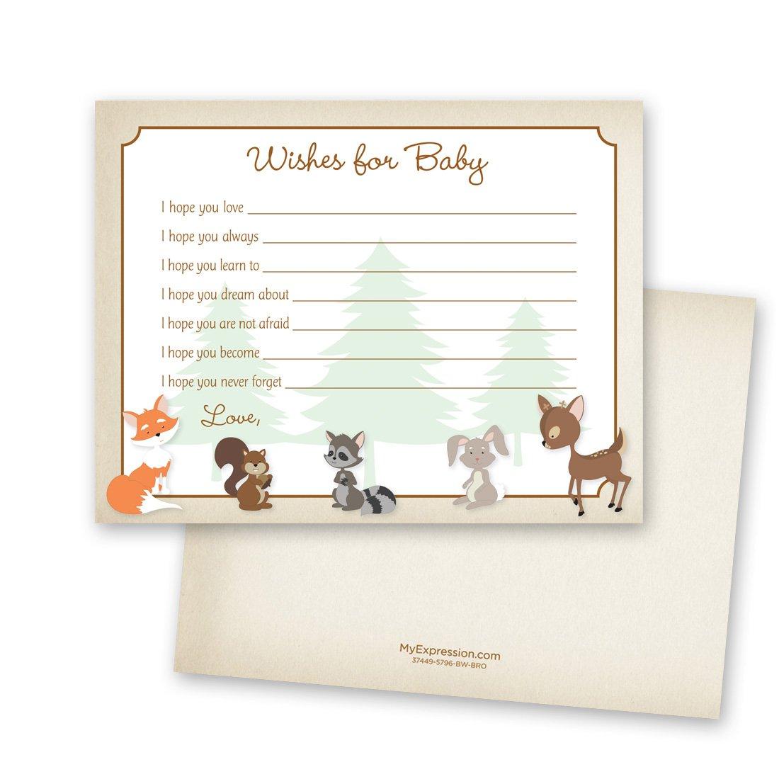 48 Cnt Woodland Animals Baby Wish Card