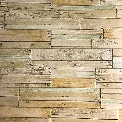 Slavyanski vinyl wallpaper brown old vintage retro faux rust rustic realistic barn Distressed wood textured pattern double rolls wallcoverings wall paper coverings textures washable modern roll 3D