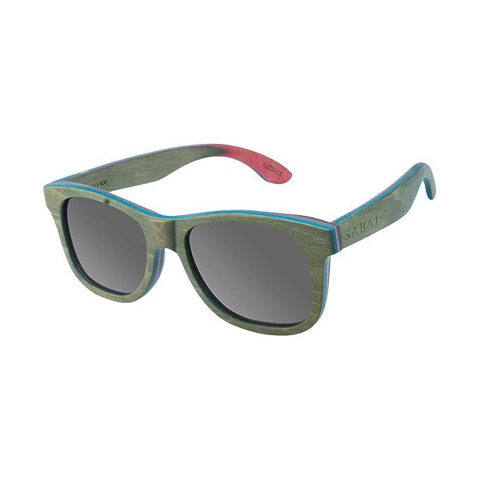 SABAI Jungle - Gafas de Sol Polarizadas Marco Madera Lente Gris